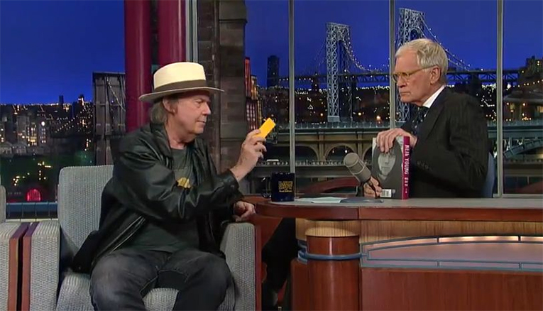 Neil Young on David Letterman