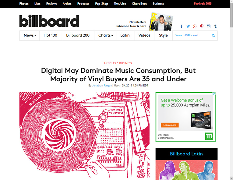 Billboard article